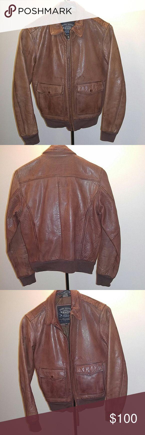 Leather bomber jacket medium women's Genuine leather Bomb Boogie Jackets & Coats Blazers