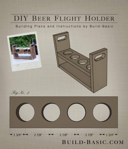Build a DIY Beer Flight Holder – Building Plans by @BuildBasic www.build-basic.com #craftbeer #beerflight #brew #homebrew #beer #diybeer #beertasting