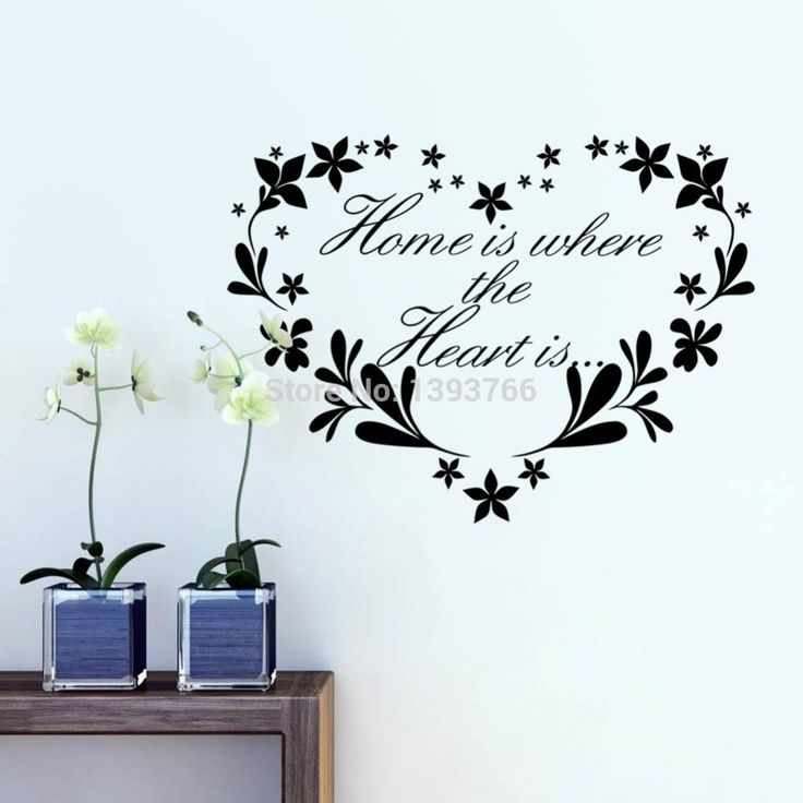 Removable Wall Decor Quotes : Home is where heart decor creative quote wall