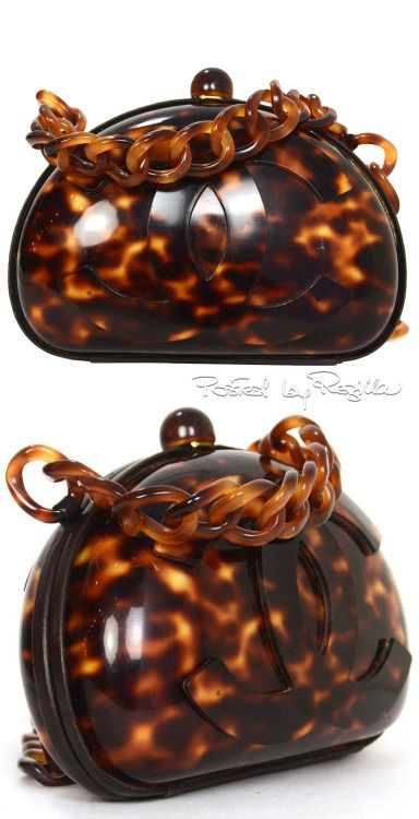 Chanel ~ Rare Vintage 70's Tortoise Shell Crossbody Bag