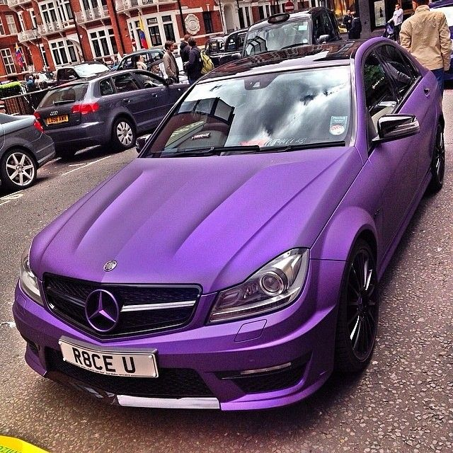 Matte Purple Mercedes Benz - Love it! #Purple #Cars #VictoryAutoMN http://victoryautoservice.com/