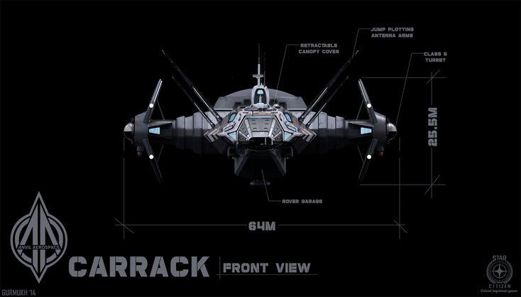 ArtStation - Carrack Concept Art (Star Citizen), gurmukh bhasin
