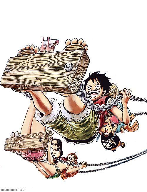 Hahah.. Quem nunca balançou em pé no balanço, não sabe o que é ser radical kkkkk | Luffy Nami Robin e Chopper