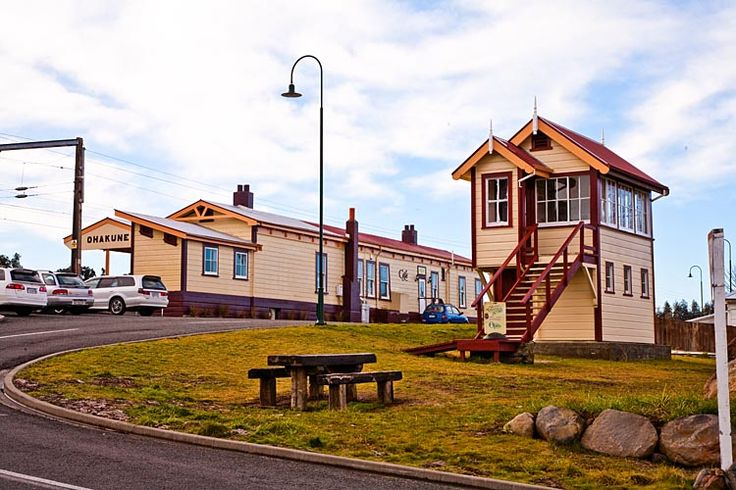 Ohakune, railway station, one of the highest in NZ at 600 meters,  see more at New Zealand Journeys app for iPad www.gopix.co.nz