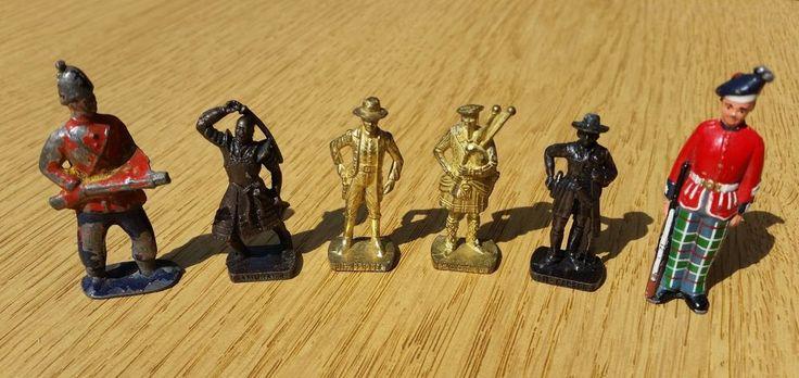 4 Kinder Surprise Metal Figures - SCAME + 2 Others