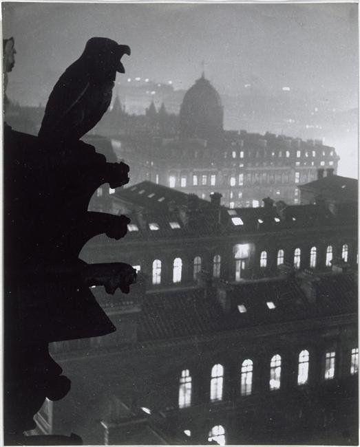 Brassai, Oiseau, vue de Notre-Dame sur l'Hotel-Dieu, 1933
