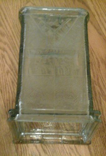 #antique VINTAGE VISIBLE GLASS MAILBOX RARE DESIGN AND SHAPE please retweet
