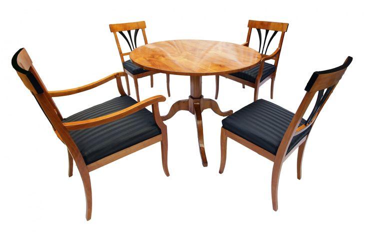 tischgruppe kirschbaum biedermeier antiquit ten. Black Bedroom Furniture Sets. Home Design Ideas