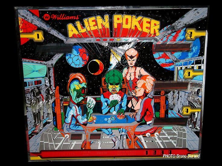 Williams alien poker backglass