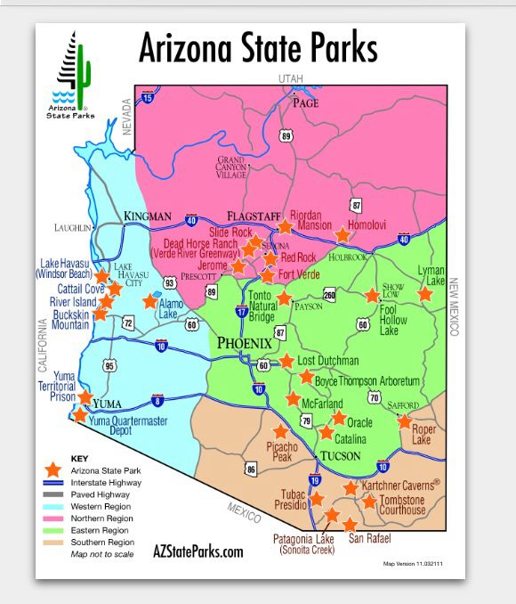 Best Arizona State Parks Images On Pinterest State Parks - Az state map