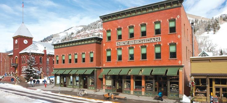 Telluride, CO - In the heart of town, try the historic, Old West–style New Sheridan Hotel. Numerous ski packages make it a great place to base a downhill vacation, but even if you're not staying, try the fine Chop House restaurant or the swanky yet saloon-like New Sheridan Bar.