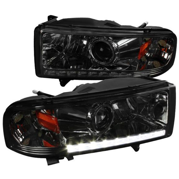 Spec D Tuning Dodge 1994 2001 Ram 1500 94 2002 Ram 2500 3500 Ram Smoke Led Projector Headlights 94 95 96 97 98 99 00 01 02 Left Dodge Ram Towing Mirrors Dodge