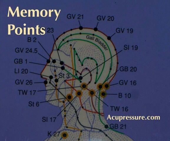 Memory Acupressure Points Body Work Chakras
