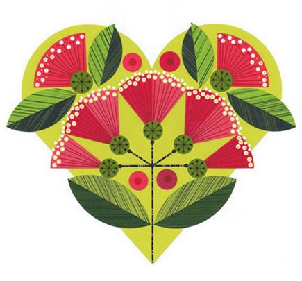 Pohutukawa Heart - by Ellen Giggenbach