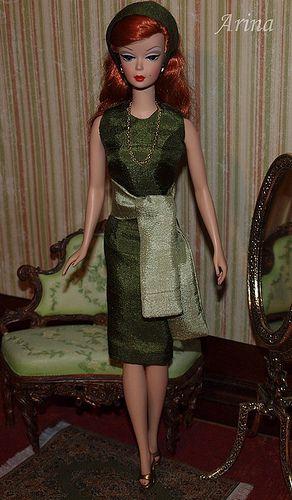 Silkstone Barbie in Arina's fashion creations. Dusk To Dawn Silkstone Barbie