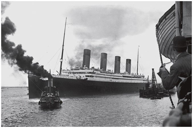 "As a tugboat guided the Titanic out of Southampton, photographers recorded the moment from a nearby ship. Five days later this symbol of the gilded age lay at the bottom of the North Atlantic. ""It's one of those stories that will always be told,"" says explorer Robert Ballard."