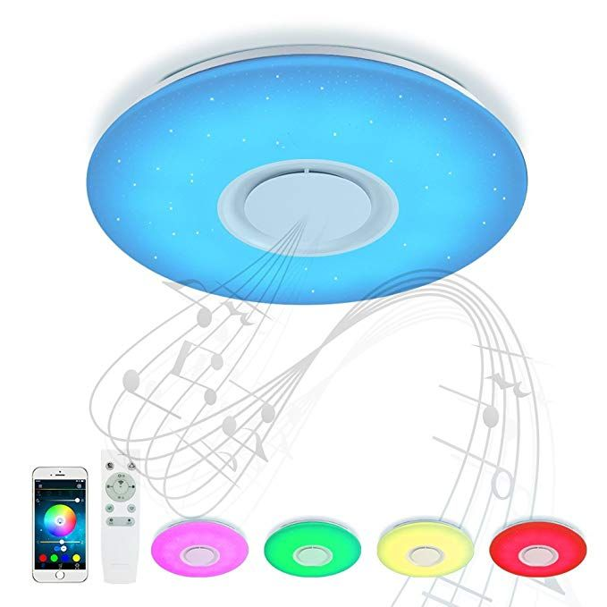 Bluetooth Deckenleuchte Umgebungslicht 24W ⌀40 CM mit ...