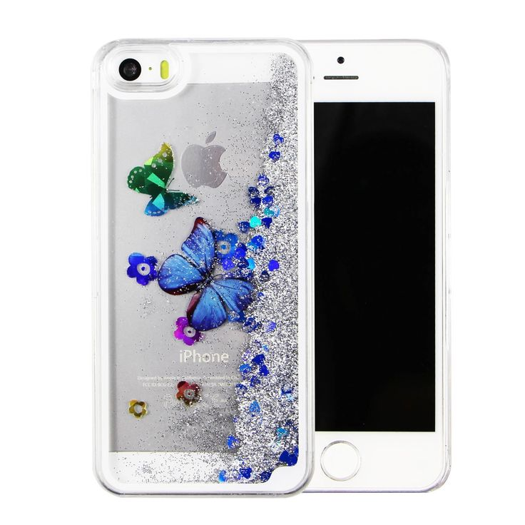 iPhone 6s plus case,liujie Liquid Cool Quicksand Moving Stars Bling Glitter Floating Dynamic Flowing Case Liquid Cover for Iphone 6s plus 5.5inch (butterfly silver). Compatible Model: iphone 6 6s 5.5inch only. Material: High quality polycarbonate plastic