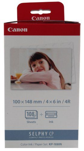 (Germany): Bürobedarf: Canon KP-108IN Druckerkartusche und Papier 100 x 148 mm für Selphy CP Fotodrucker-Serie [Listenpreis: EUR 41,70 Kaufen Neu: EUR 30,00 ]