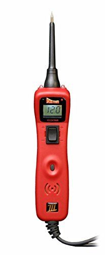 POWER PROBE III Clamshell - Red (PP3CSRED) [Car Automotive Diagnostic Test Tool Power Up Electrical Components Digital Volt Meter ACDC Current Resistance Circuit Tester LCD Screen Flashlight Short Circuit Indicator Audible Tone]. For product info go to:  https://www.caraccessoriesonlinemarket.com/power-probe-iii-clamshell-red-pp3csred-car-automotive-diagnostic-test-tool-power-up-electrical-components-digital-volt-meter-acdc-current-resistance-circuit-tester-lcd-screen-flashli