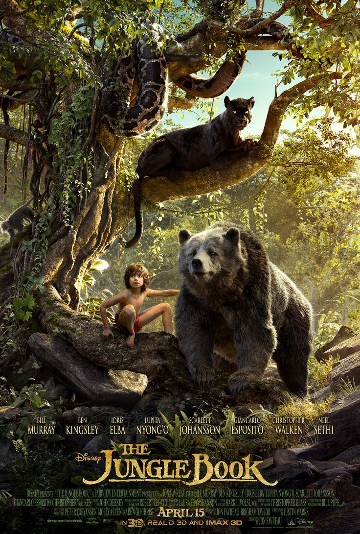 The Jungle Book - After a threat from the tiger Shere Khan forces him to flee the jungle, a man-cub named Mowgli embarks on a journey of self discovery with the help of panther, Bagheera, and free spirited bear, Baloo.