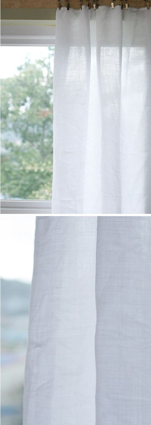2.5 Yards of White PURE Linen WIDE 150cm U2835 by SonSu on Etsy