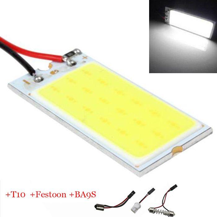 Big Promocja COB T10 36 SMD LED Panel Światła Samochodów Auto wnętrze Czytanie Mapa Parking Żarówki BA9S Festoon Dome 3 Adaptery DC12V