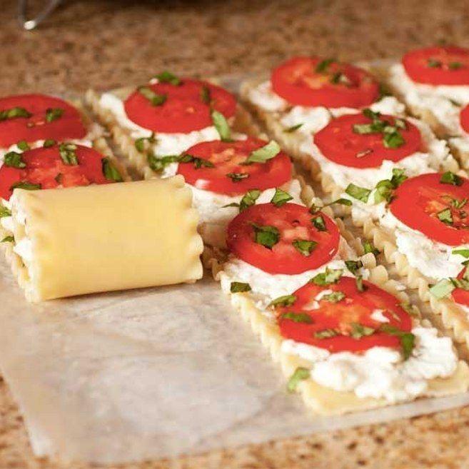 O prepara los suculentos rollitos al estilo caprese. | 16 Recetas de lasaña que…