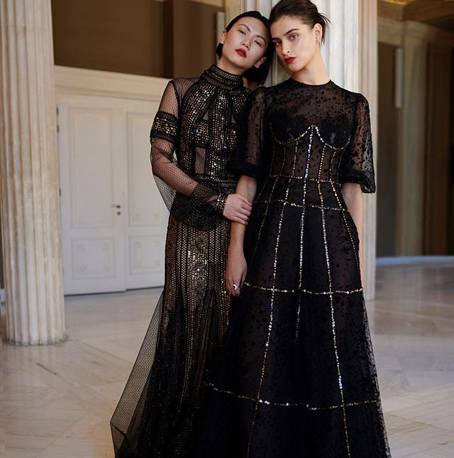 Ladies in #black.  #costarellos #fw18 #fall2018 #rtw #pfw #parisfashionweek #black