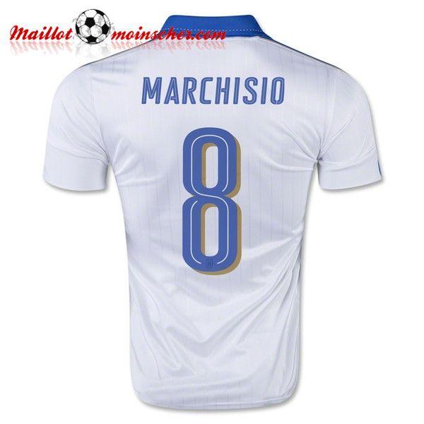 Replica: Nouveaux Maillot Equipe de Italie MARCHISIO 8 Exterieur 2016 2017 fr-moinscher