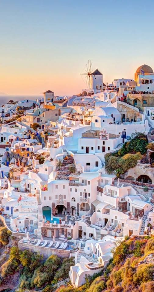 Santorini is the one place I didn't get to see, but close to that is Mykonos and Mykonos is GORGEOUS!!!