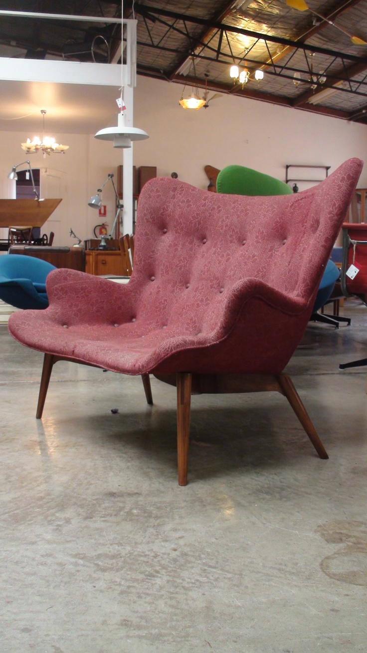 The Featherston R161 settee in well used original condition. See it Surry Hills.