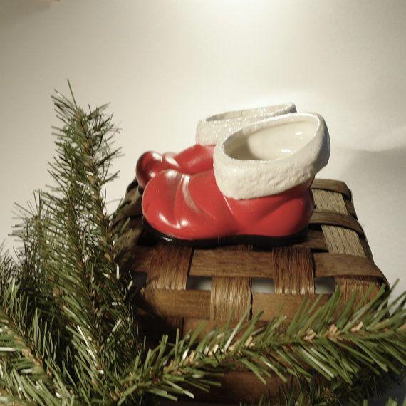Santas Boots Vintage Christmas Decorations