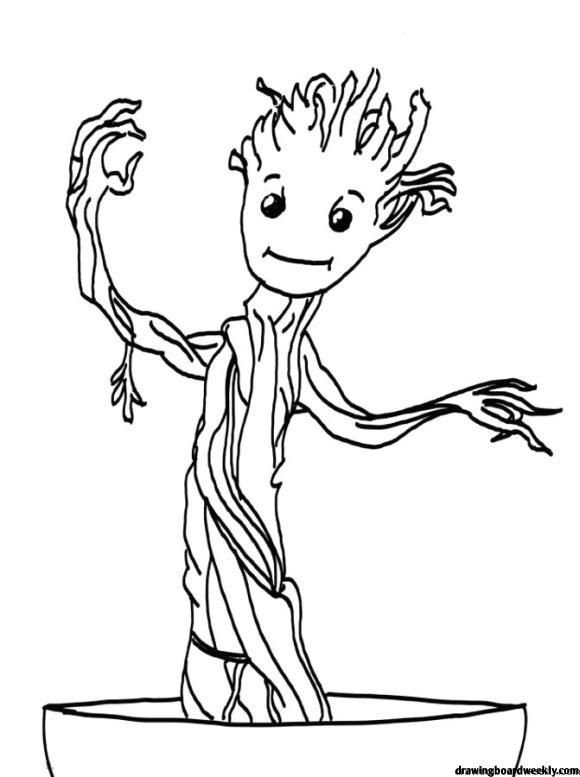 Baby Groot Coloring Page Free Coloring Pages Baby Groot Free