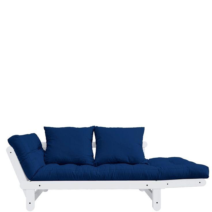 schlafsofa beat kiefer weiss royal blau 75x200cm jetzt bestellen unter httpsmoebelladendirektdewohnzimmersofasschlafsofasuidc93bc7ef 7b79 5d07 - Wohnzimmer Couch Gunstig