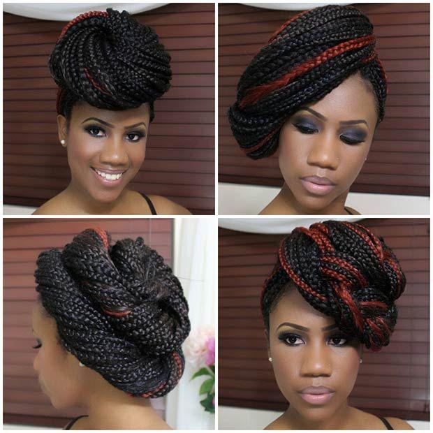 Miraculous 1000 Ideas About Box Braid Styles On Pinterest Box Braids Short Hairstyles Gunalazisus