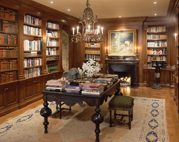 - Georgian Architecture - An Apartment Renovation - home Library / Study - Skurman