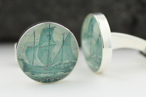 Canadian Cufflinks for men  Genuine Upcycled by HudsonBlueArtisans, $49.00