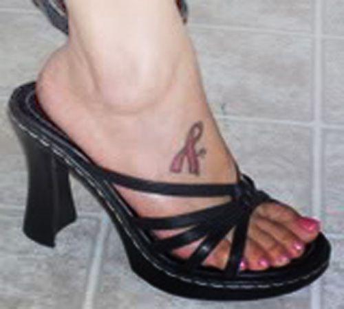 Small Pink Ribbon Tattoos | Symbol pink ribbon tattoo designs | Gallery Pink Tattoos | Tattoo Expo