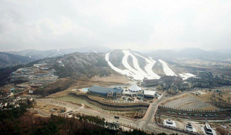 The #Alpensia Ski Jumping Stadium is a ski jumping hill located in Alpensia Resort at #Daegwallyeong, Pyeongchang-gun County, Gangwon-do Province.   It will be the location to hold the ski jumping events of the #PyeongChang 2018 Winter #Olympics. Besides ski jumping, it also holds excellent biathlon facilities and cross-country ski slopes.