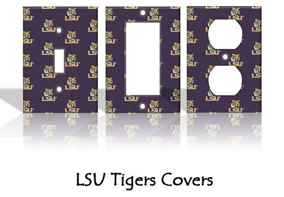 Lsu Tigers Light Switch Covers Wallplates By