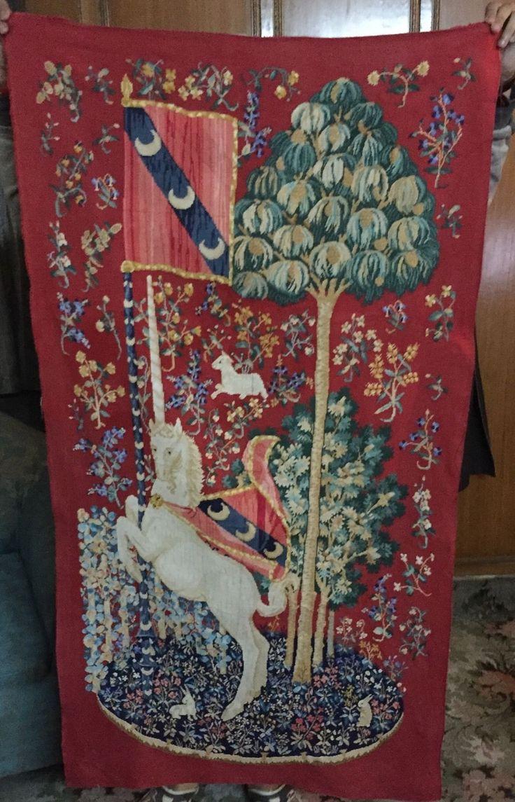 старинный французский гобелен панели, настенный вручную сплетенных текстиль французский