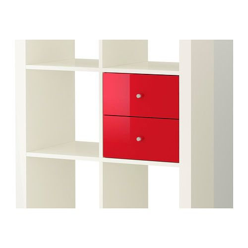 Expedit Living Room Bookcases Insert With Door High Gloss White
