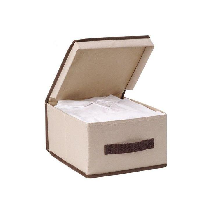 StorageManiac Foldable Polyester Canvas Storage Box with Lid