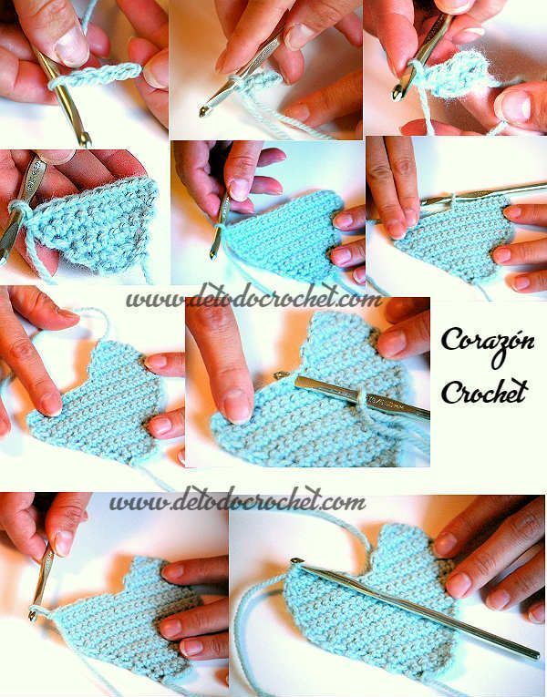 corazon crochet paso a paso