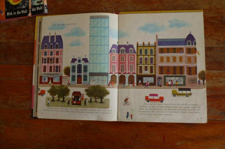 """Pictures from the picture children reading book """"Heidi und Peter / Stadt""""     illustrations by: Alain Gree"""