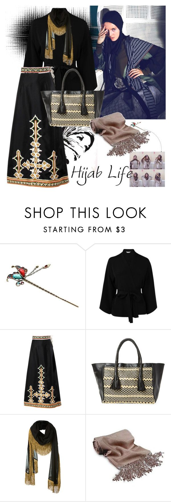 """Hijab Of The Day"" by rizqi-hanindya-putri ❤ liked on Polyvore featuring L.K.Bennett, Antik Batik, Yves Saint Laurent, Forzieri, love, muslim and hijab"