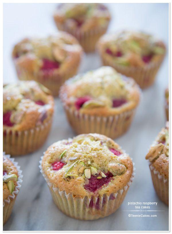pistachio raspberry tea cakes teeniecakes com @ cristina teenie cakes