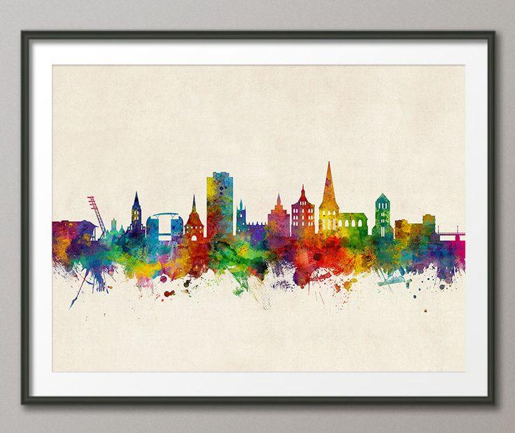 Rostock Skyline, Rostock Germany Cityscape Art Print (3199) by artPause on Etsy