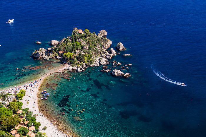 Isola bella beach, Szicília, Olaszország
